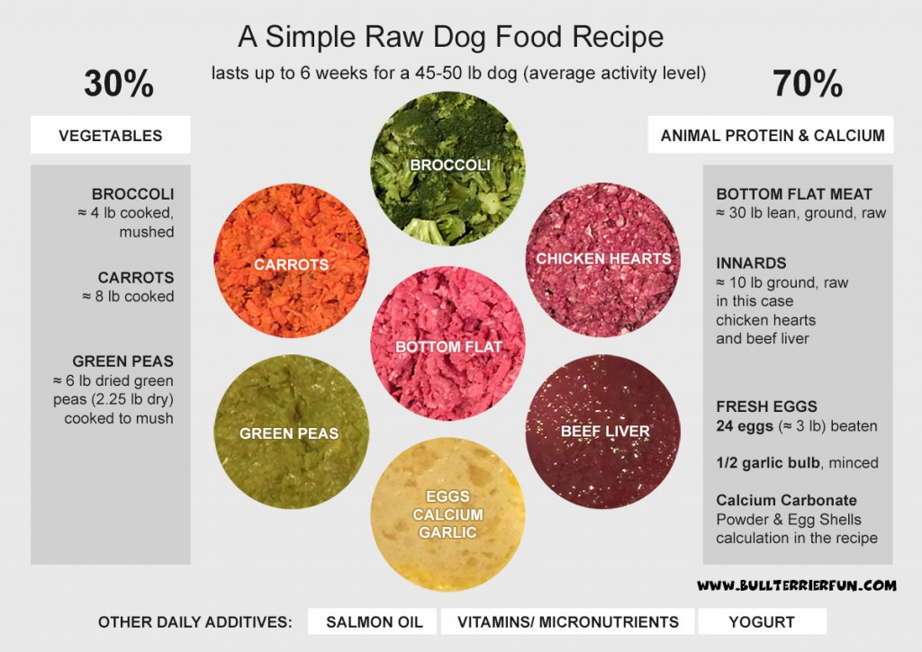 Low starch, grain-free homemade raw food