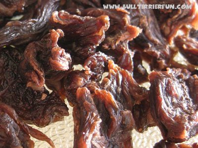 Homemade dog jerky treats recipe