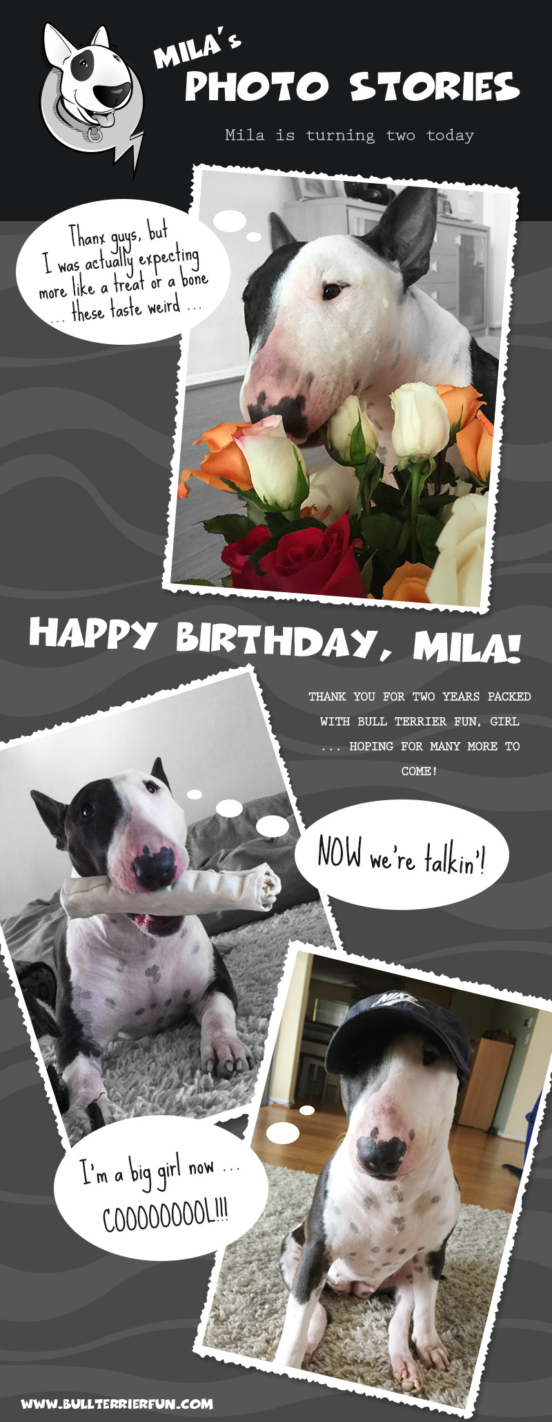 Mila is turning two today