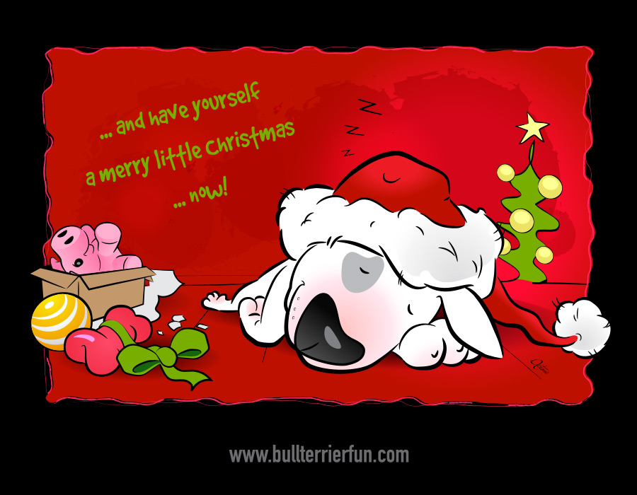 Merry Christmas from Bullterrierfun